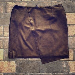 Gold Leather Trouve Skirt size 8